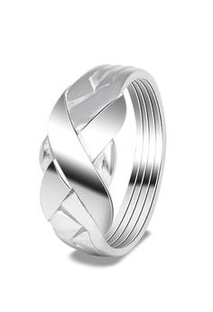 SC Tom Silver Mens Puzzle Ring SC872AC0JDDPPH 1