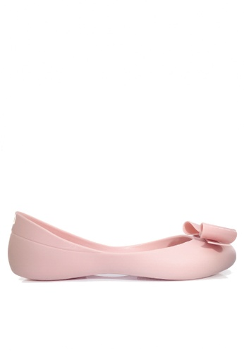 Twenty Eight Shoes pink 3D Bow Jelly Rain Shoes VR7524 0E780SHE67358AGS_1