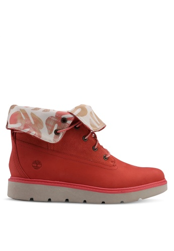 Timberland red Kenniston Roll-Top Boots BA7FFSH8650C75GS_1