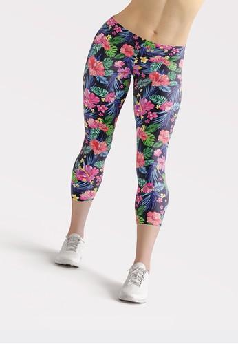 Ragaready pink and blue Capri Legging Tropical, Sport Wear B0B75AAA94789FGS_1