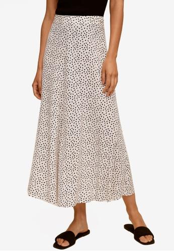 Mango 白色 印花裙 AD85EAA1253064GS_1