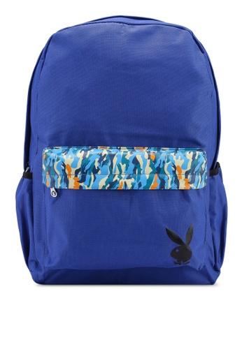 Playboy blue Playboy Backpack 1B48AAC3CF40D8GS_1