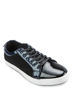 Mixed Material Sneakers