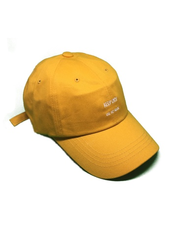 M-Wanted yellow M. Keep Dry, Use No Hook Baseball Cap MW173AC0FTHXSG_1
