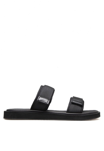 Twenty Eight Shoes 黑色 雙橫帶拖鞋 VMS016 8D8A6SHD8C2A5FGS_1
