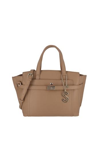 SEMBONIA brown Top-Handle Satchel Bag 4FCCEACB0FFBE5GS_1