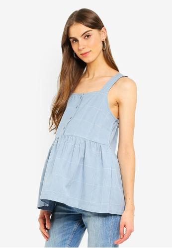 Mama.licious 藍色 Odessa Lia S/L Woven Top 6AA16AA7F8CFF3GS_1