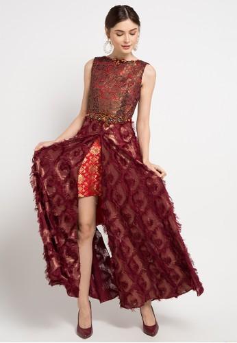 LUIRE by Raden Sirait red and multi Jessica Dress B177BAA8B42963GS_1