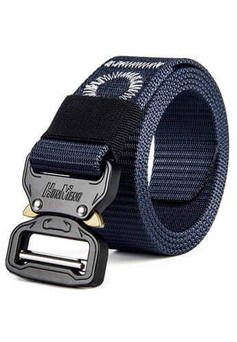 """FANYU blue FANYU Tactical Belt for Men Adjustable Nylon Military Webbing Belt with Heavy Duty Quick Release Buckle 1-1/2"""" Wide 378A8AC678EB2DGS_1"""