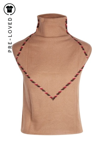 Missoni brown Pre-Loved missoni Sleeveless High Neck Cashmere Top 6C1B5AA1AA0CEFGS_1
