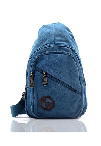 Attraxion Men's and Accessories blue Terrence 817-14 Crossbody Bag E7558ACA751D3BGS_1