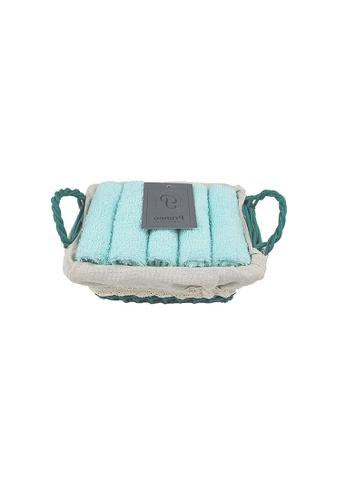 Primeo green Premium 1Aqua Hand Towel Set With Basket 300gsm Soft High Absorbent Beige Set of 4 F2DBAHL5306268GS_1