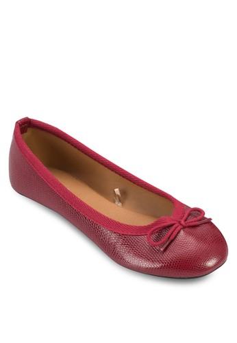 蛇紋esprit 高雄蝴蝶結娃娃鞋, 女鞋, 印花時代