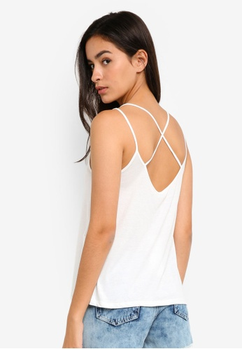 ONLY white Mimi Singlet Top EED45AA919FF5CGS_1