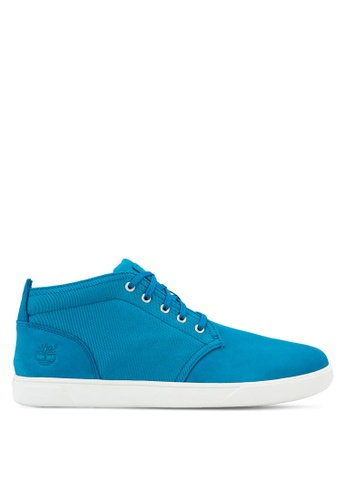 Timberland blue Groveton LTT Chukka Shoes TI063SH55QWMMY_1