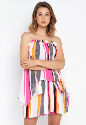 Josie pink Stripes Cami Top 7CE2EAA9EBA051GS_1