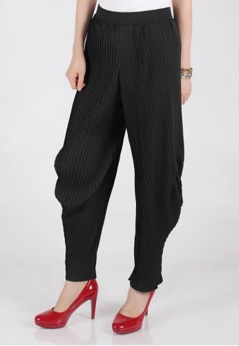 Meitavi's Plisket Tulip Pants - Black