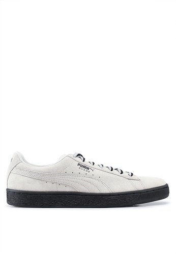 """PUMA grey Sportstyle Prime Suede Classic """"Other Side"""" Shoes 53556SH2600A91GS_1"""