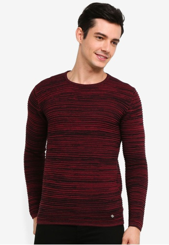 !Solid 紅色 Struan 混色針織Sweater 767DBAA28C6D97GS_1