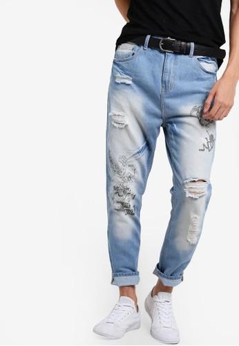 刷破牛esprit hk仔褲, 服飾, 牛仔褲