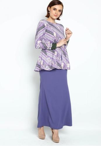 Owl By Nora Danish - Shania Batik By Owloveraya Kebaya Modern from OWLBYND in Purple