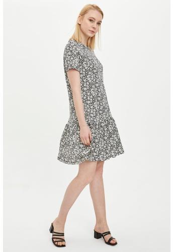 DeFacto black Woman Dress & Skirt Short Sleeve Knitted Dress F21C5AA1B42518GS_1