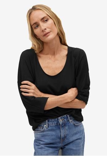 Mango black Long Sleeve T-Shirt 42AA8AA19F57D4GS_1