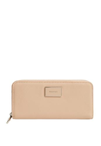 Mango pink Saffiano-Effect Wallet 28F42ACA769538GS_1