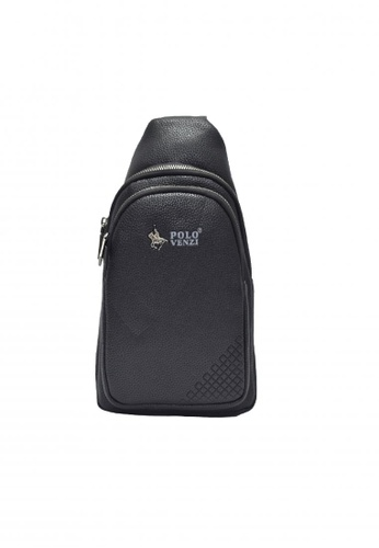 POLOVENZI black POLOVENZI MEN NYLON CHEST BAG/ CROSSBODYBAG/ BELT BAG 389B0ACAF3E23AGS_1