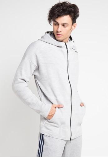 adidas multi and grey adidas adidas z.n.e. primeknit hoodie 558ABAA0989997GS_1