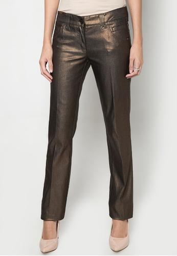 Dolce & Gabbana silver Metallic Straight Cut Pants DA093AA92TRBPH_1
