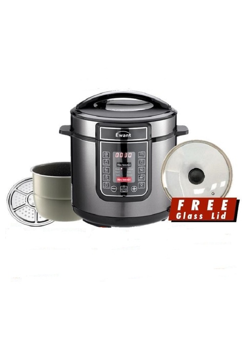 MMX MMX Ewant Pressure Cooker Marble Pot Rice Cooker 15 in 1 with Multi-functional Cooker - Black (6L)