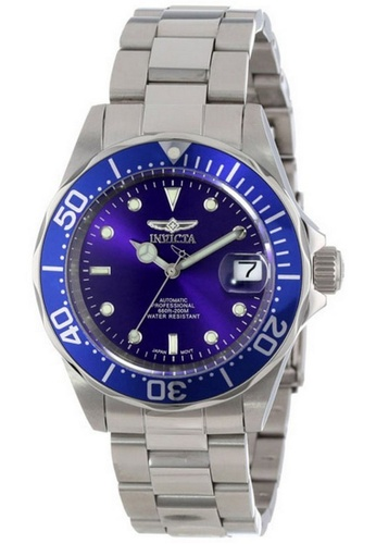 INVICTA silver Invicta Pro Diver Men 40mm Case Silver Stainless Steel Strap Blue Dial Automatic Watch 9094 IN968AC0F7F6SG_1