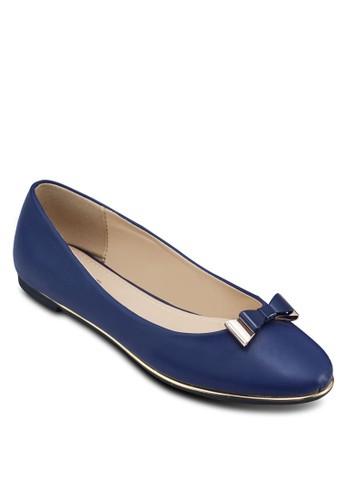 金飾蝴蝶結平底鞋, 女鞋,zalora 包包評價 芭蕾平底鞋