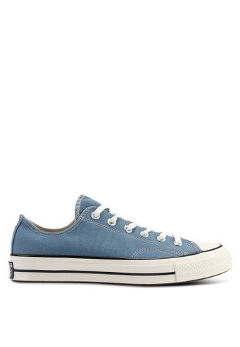 51f3a727eb2a Converse blue Chuck Taylor All Star 70 Vintage Canvas Ox Sneakers  C3371SHC5411B0GS 1