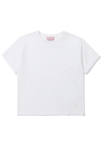 b+ab white Shimmering tee 9BF67AA172F098GS_1