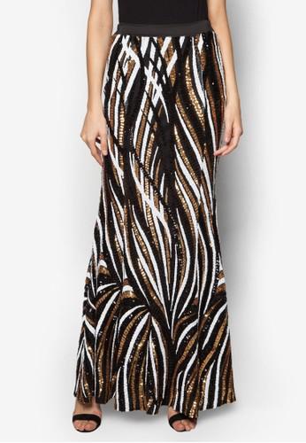 多色亮片魚尾長裙, 服飾esprit門市, 長裙