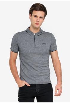d6c2b328b8 Superdry black City Sport Zip Polo Shirt E14E3AA886595DGS_1