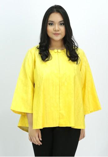 House of Kain yellow Blouse Batik Sutra 5D445AA2619E21GS_1