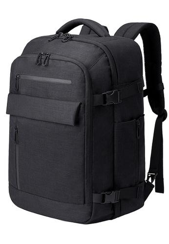 Golden Wolf black Bange Revo Laptop Backpack 09DA8AC8CAD785GS_1