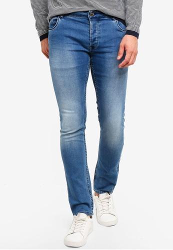 !Solid 藍色 Joy 修身Fit 牛仔褲 3347CAAA6BD366GS_1