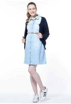 e3db7ca6bab12 Mamaway Maternity   Nursing Denim Shirt Dress RM 260.00. Sizes S M L