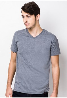 Plain V-Neck Shirt