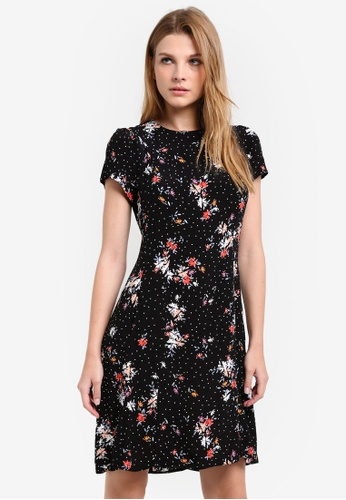 Dorothy Perkins black Ditsy Floral Fit And Flare Dress DO816AA0RSOOMY_1