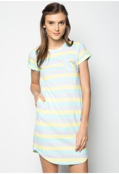 Knits Short Sleeves Roundneck Dress W/Amboy
