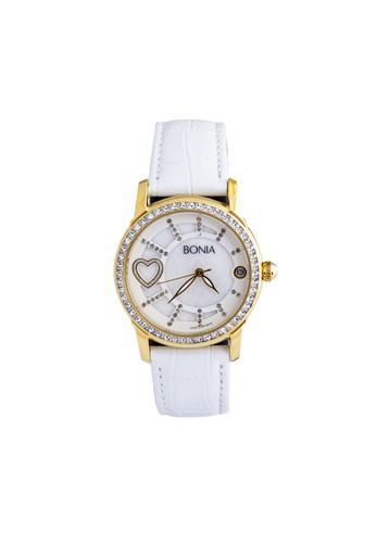 Bonia silver Bonia - B10014-2559S - Jam Tangan Wanita - White Rosegold C3709AC67AE757GS_1