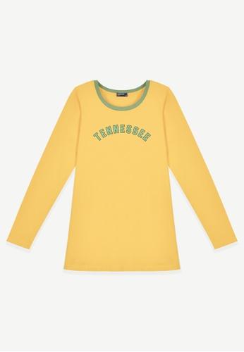 Cheetah yellow Cheetah Ladies Long Sleeve Tee - CL-65348 B8039AA7ACFCE6GS_1