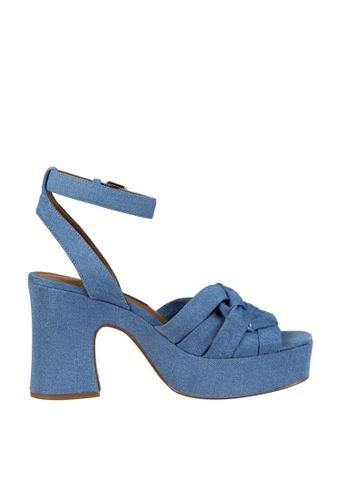 Nine West blue NWFETUCHINI Platform Sandals 4DE6DSH897E3CFGS_1