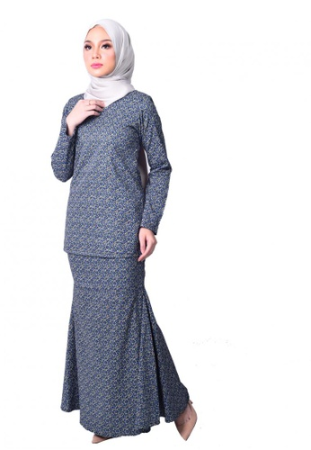 Chaleeda Kurung Modern from KAMDAR in Navy