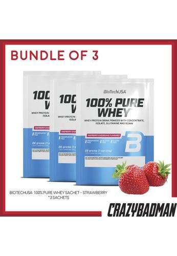 BioTechUSA [Bundle of 3] 100% Pure Whey Sachet - Strawberry 5A8DDES83E92B4GS_1